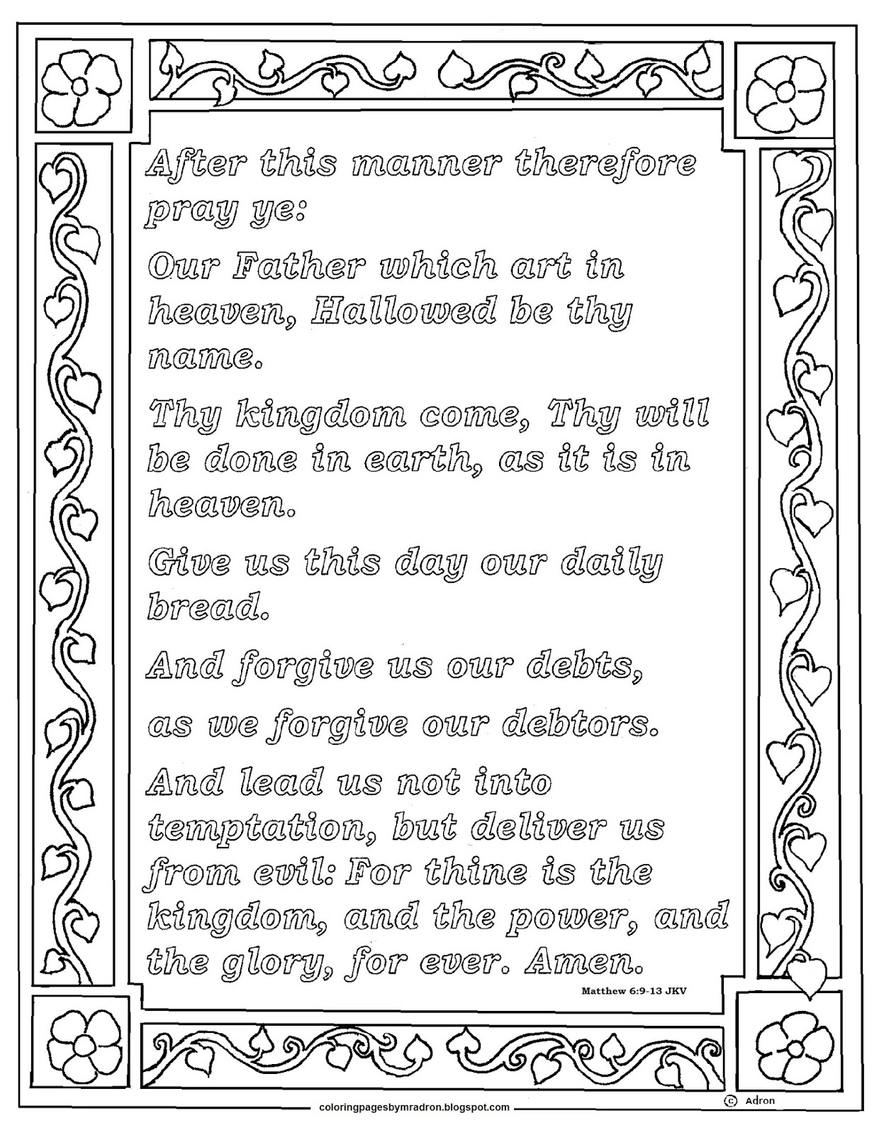 The Lord S Prayer Kjv Printable Printabletemplates