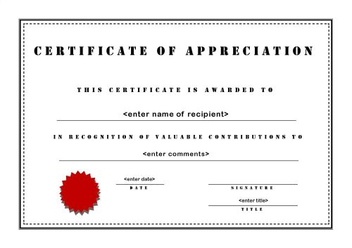 certificate of appreciation wording for employees