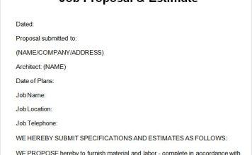 Job Proposal Templates