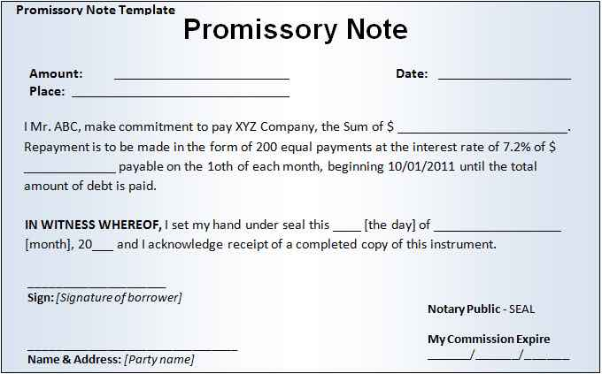 Promissory Note PDF