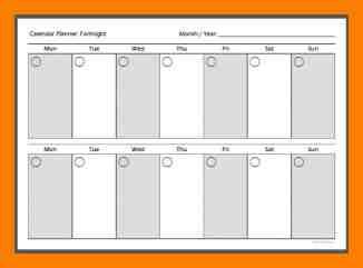 printable 2 week calendar
