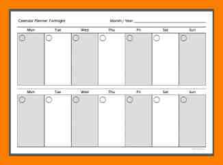 picture about Printable 2 Week Calendar identified as Printable 2 7 days Calendar - No cost Down load