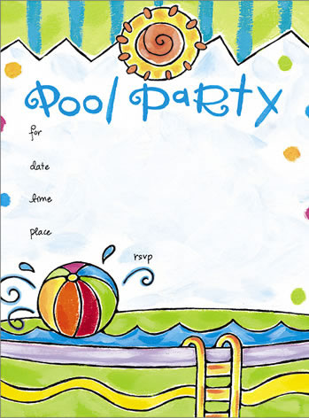 pool party invitation templates free printable free download