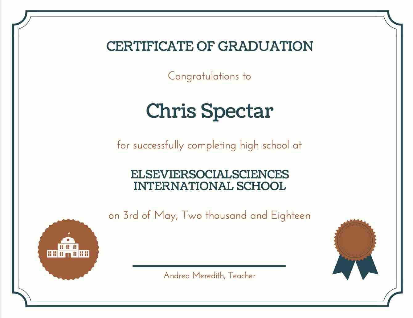 printable diplomas for high school