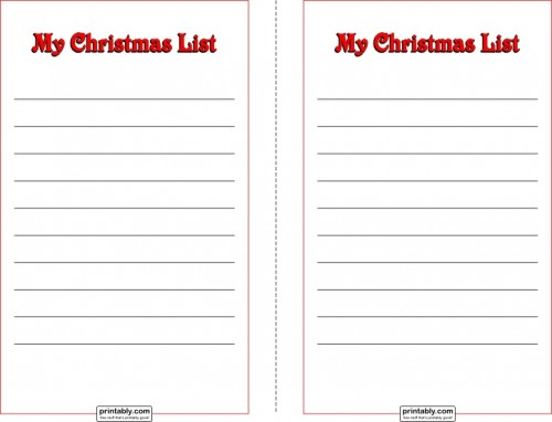 Kids Christmas List Template. Christmas Would You Rather Questions