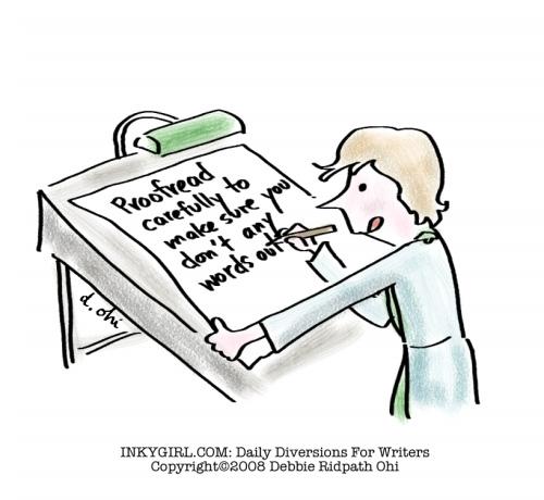 Proofreading comic.