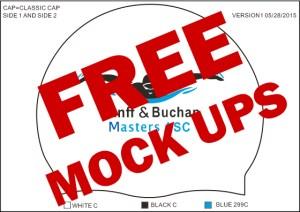 Free Mock ups for printed swimming caps