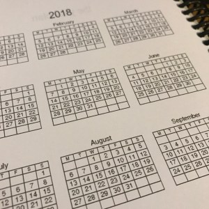 Networking Planner -year plan - 2018 overview