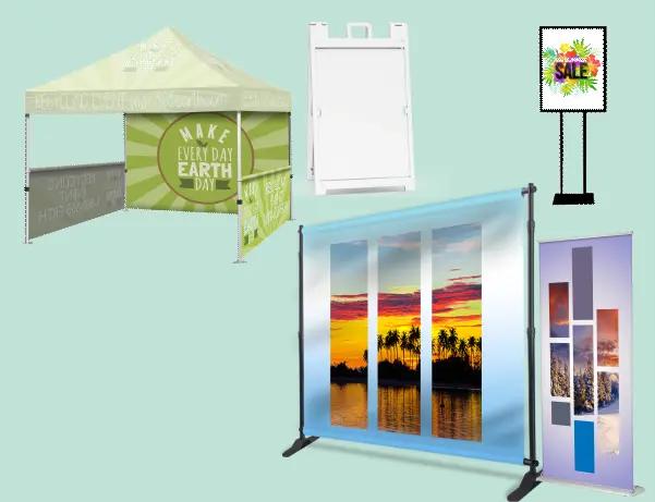 displays tradeshow sidewalk banner stands