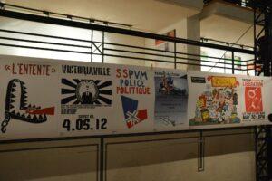 Une quarantaine d'affiches provenant du livre «À force d'imagination». 17 juin 2013. Photo André Querry.