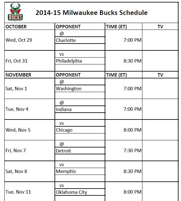graphic regarding Atlanta Hawks Printable Schedule named Milwaukee Dollars - PrinterFriendly