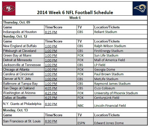 It is an image of Nfl Week 12 Printable Schedule intended for greenbay packers