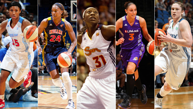 WNBA stars collage