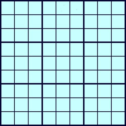 free blank sudoku puzzles 9x9 grid
