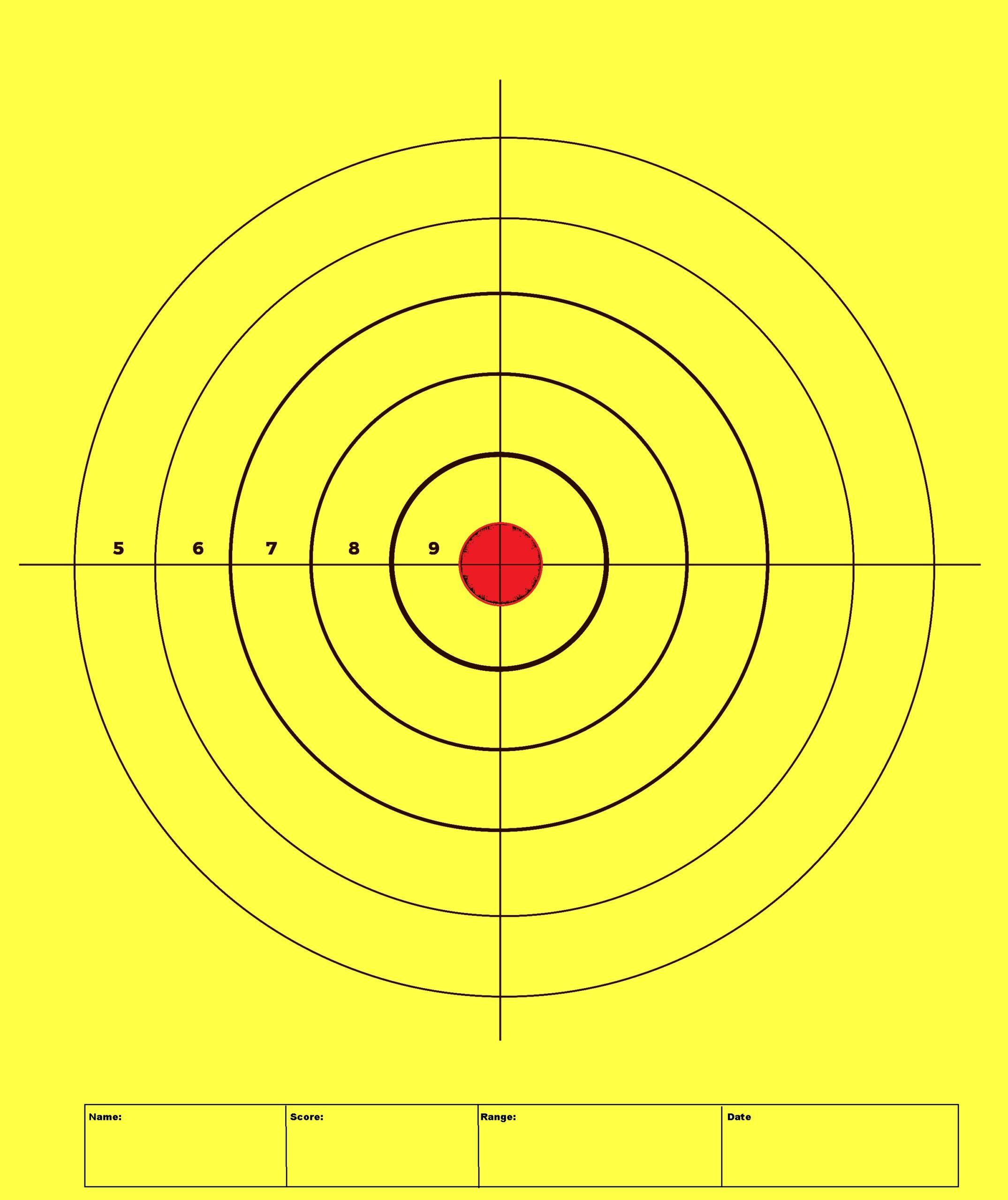 Free printable shooting targets for gun ranges