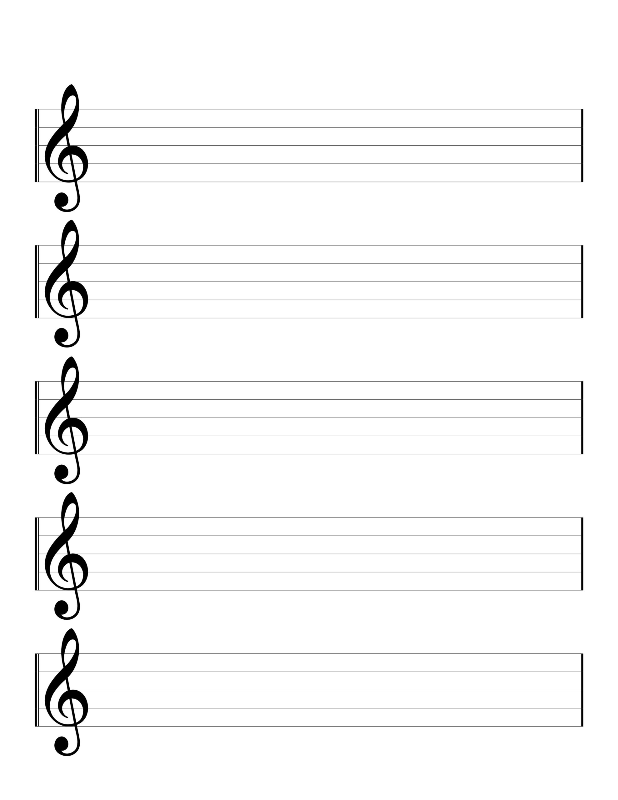 Printable, blank music staff paper so you don't have to ...