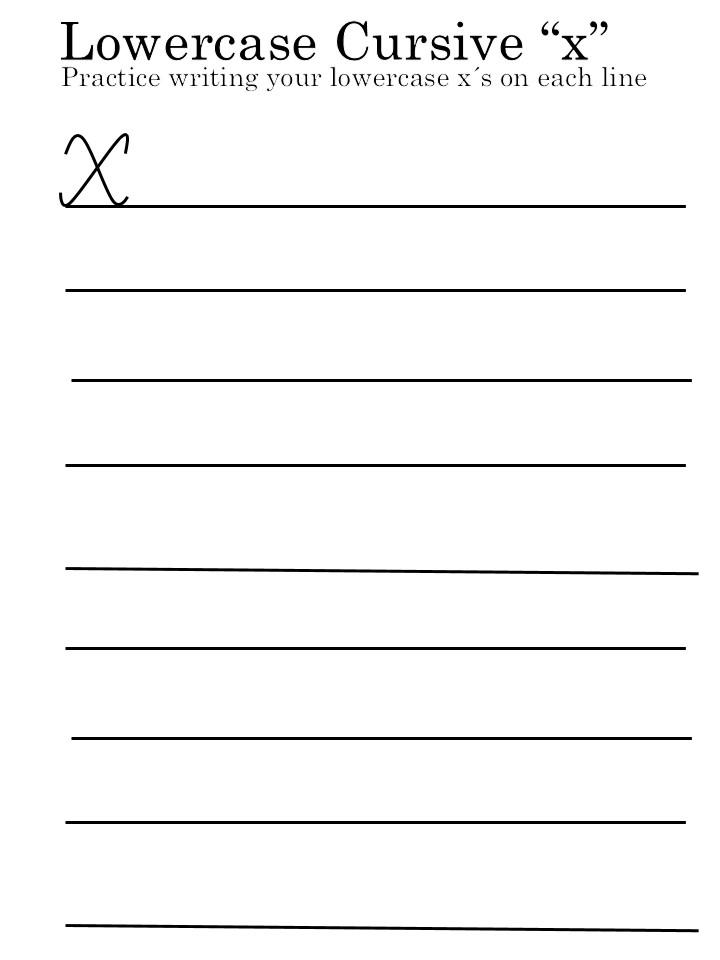 letter 'X' worksheets uppercase