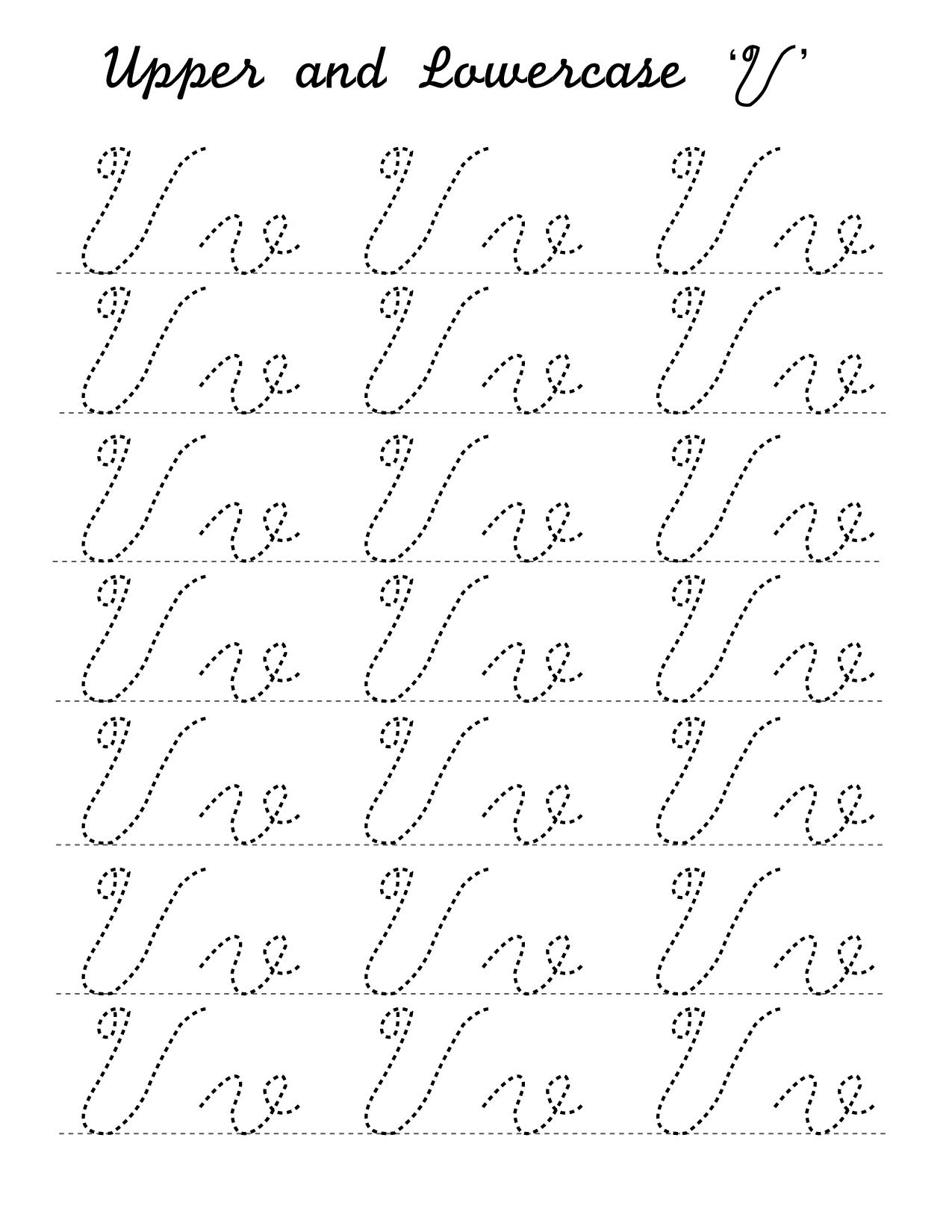 Upper and lowercase V