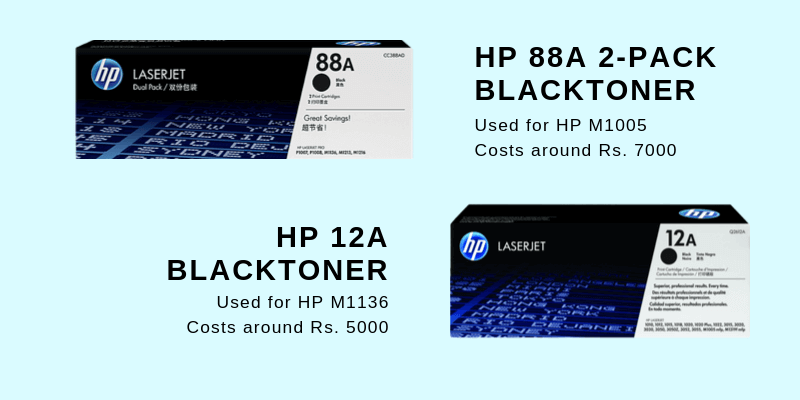HP M1136 VS HP M1005 Printer ink comparison