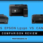 HP 530 Vs Epson L5190 Vs Canon G4010 Printer Comparison