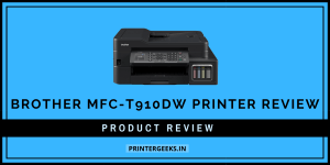 Brother MFC-T910DW Printer Review