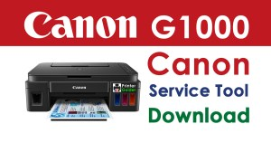 Canon Pixma G1000 Resetter Service Tool Download