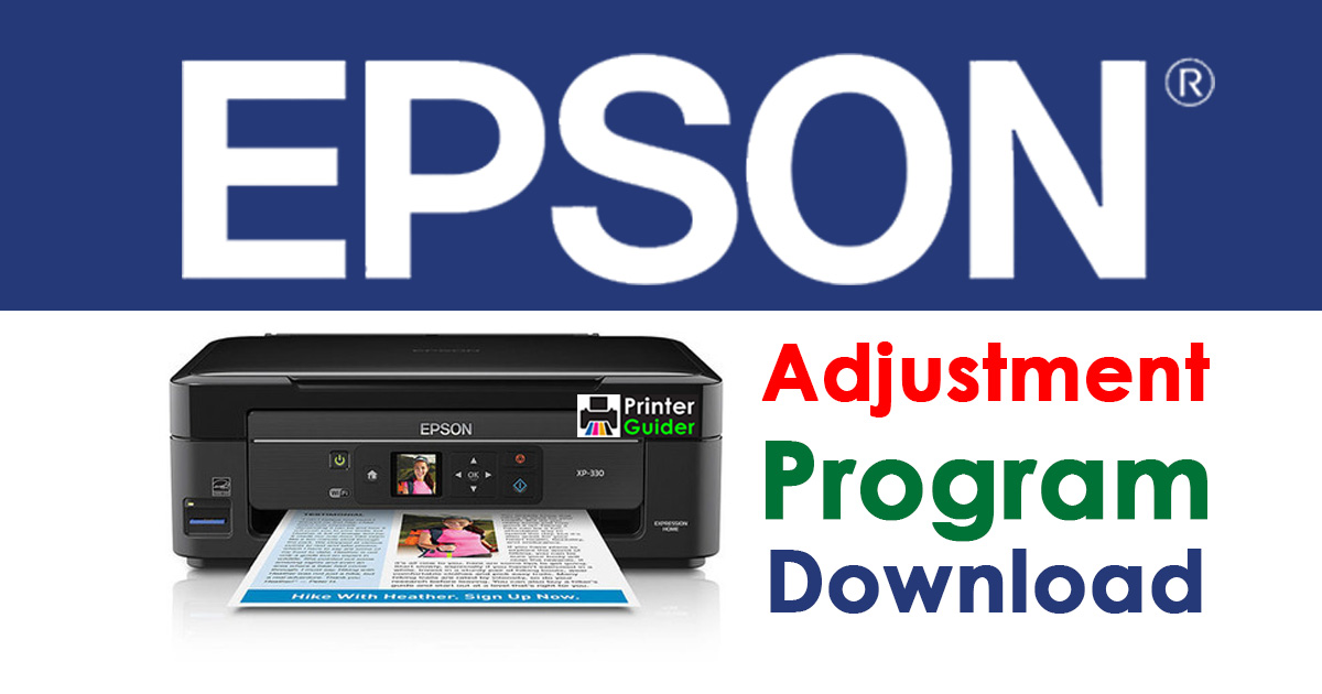 Epson Adjustment Program Reset Software