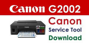 Canon Pixma G2002 Resetter Service Tool Download