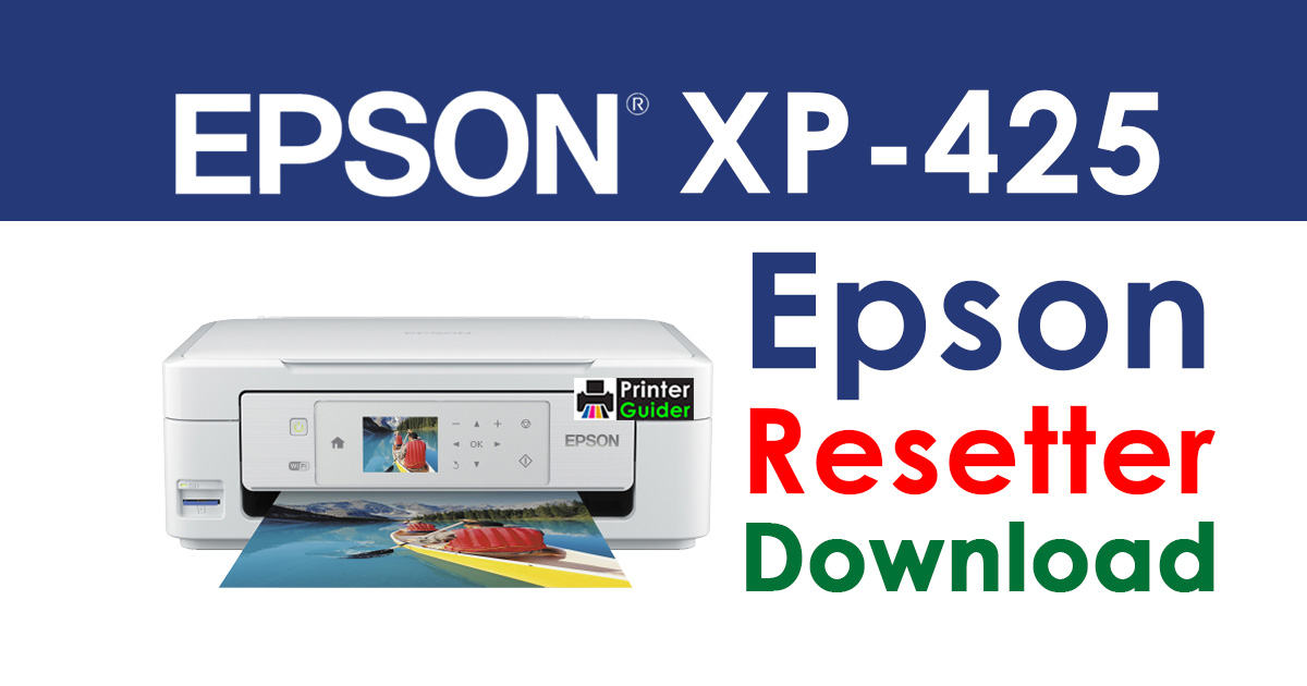 Epson XP-425 Resetter Adjustment Program Free Download