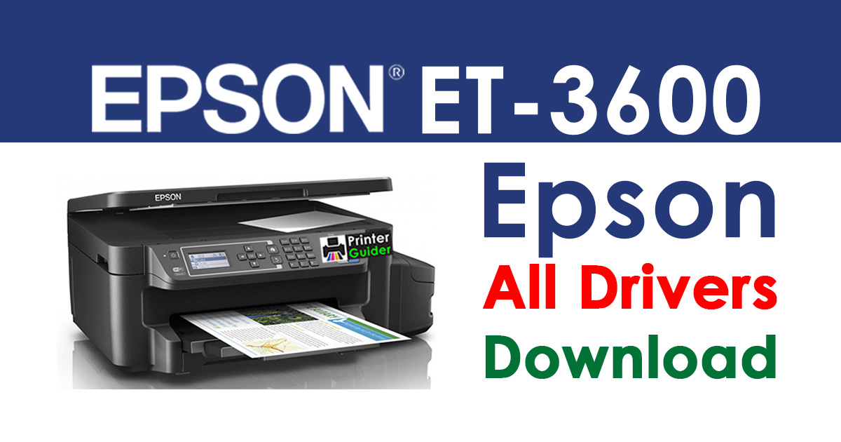 Epson ET-3600 Printer driver free download