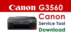 Canon Pixma G3560 Resetter Service Tool Download