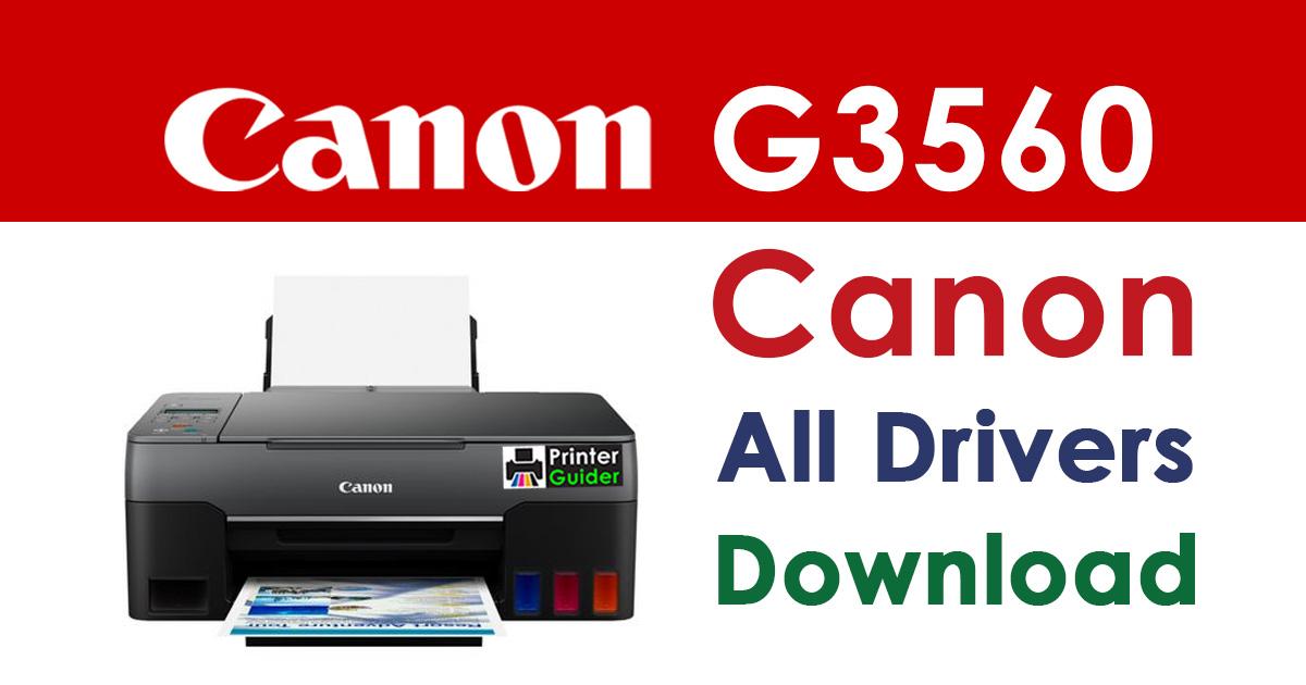 Canon Pixma G3560 Printer Driver Download
