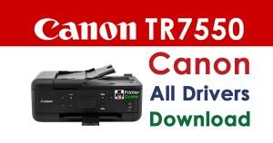 Canon Pixma TR7550 Printer Driver Download