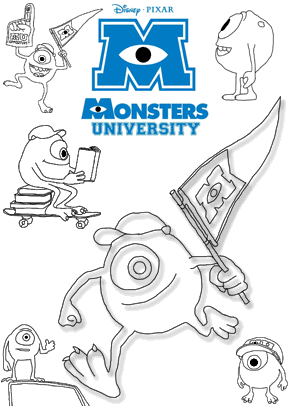 Pixar Coloring Pages Monsters Inc. 30 monsters inc coloring ...