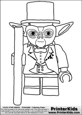 lego star wars tuxedo yoda flipped coloring page preview