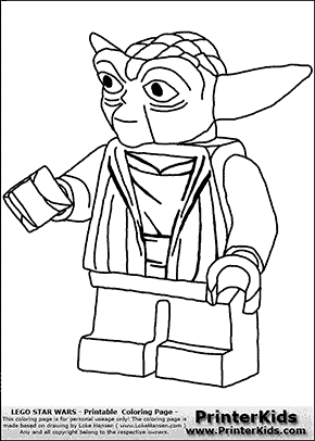 lego star wars yoda handshake coloring page preview