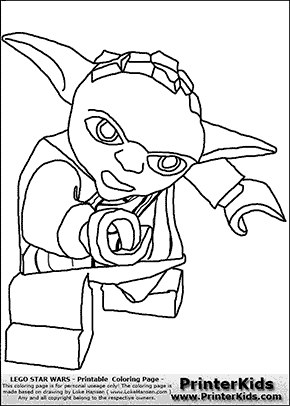 lego star wars yoda hand forward coloring page preview
