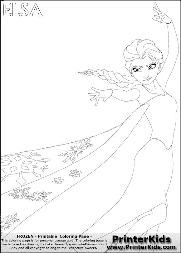 disney frozen elsa magic big sister coloring page 5 preview