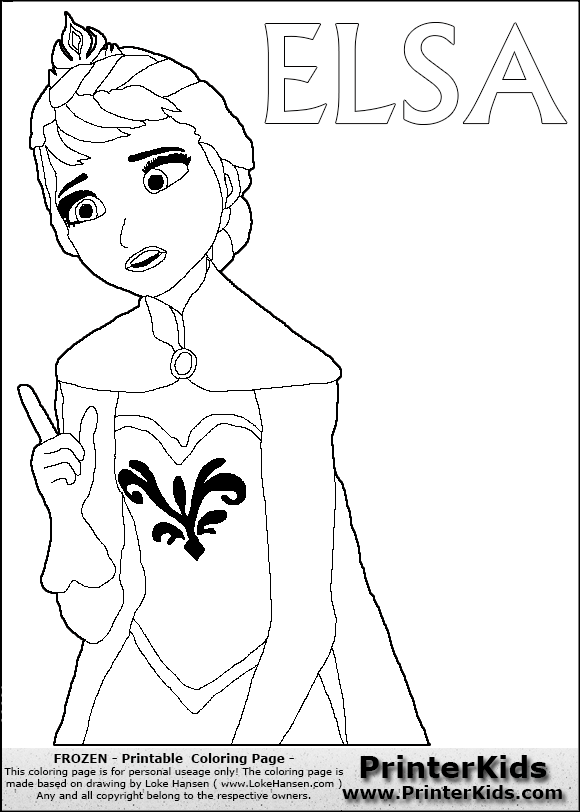 disney frozen elsa pointing coloring page 13 preview
