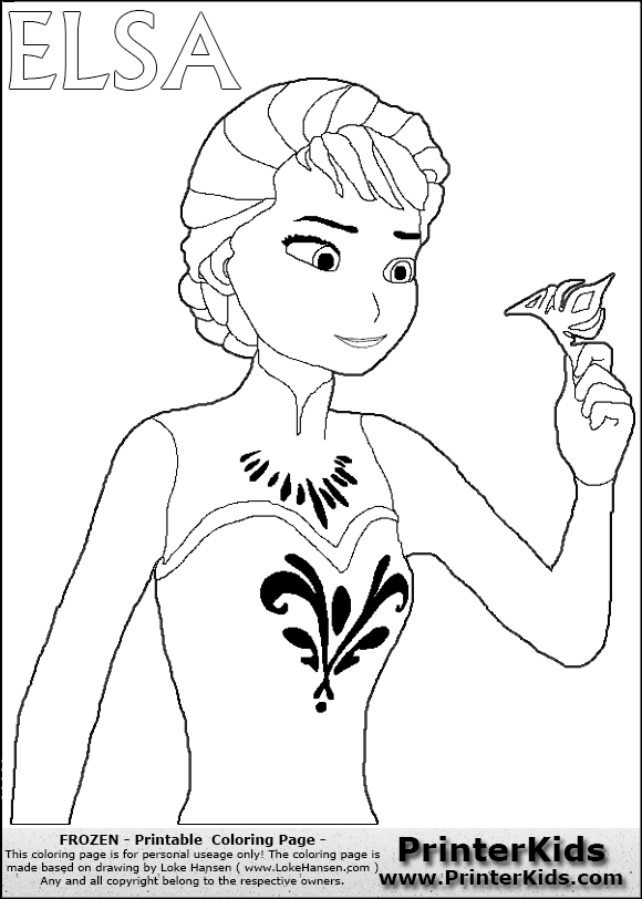disney frozen elsa throwing crown coloring page 15 preview