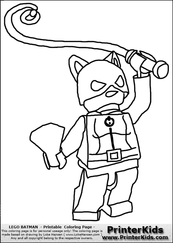 lego batman catwoman with whip coloring page preview