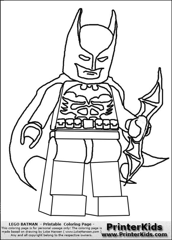lego batman weapon and cape coloring page preview