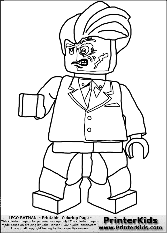 lego batman two face coloring page preview