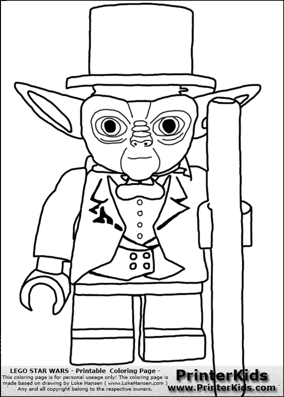 lego star wars tuxedo yoda coloring page preview