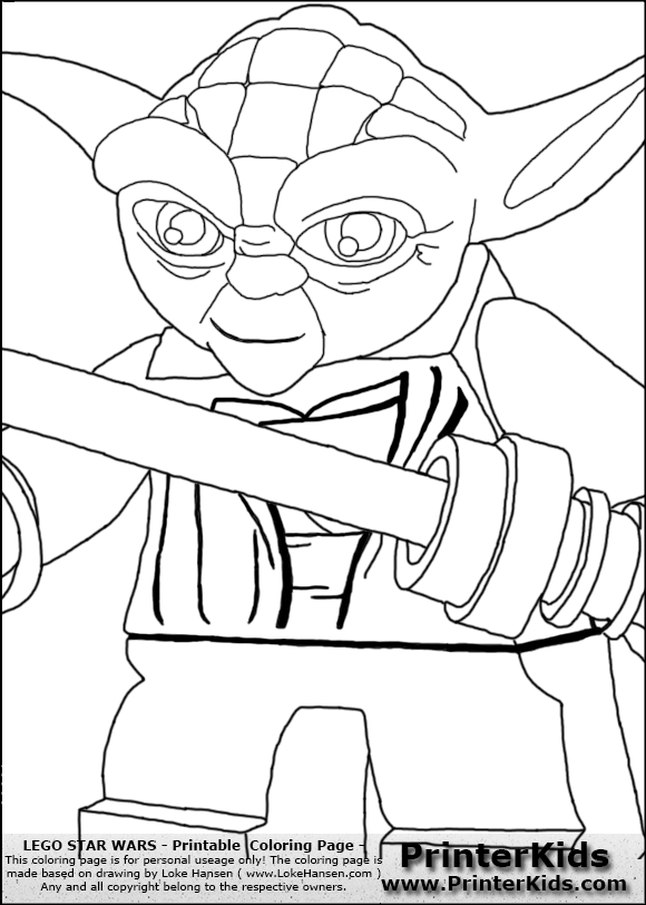 lego star wars closeup lightsaber yoda coloring page preview