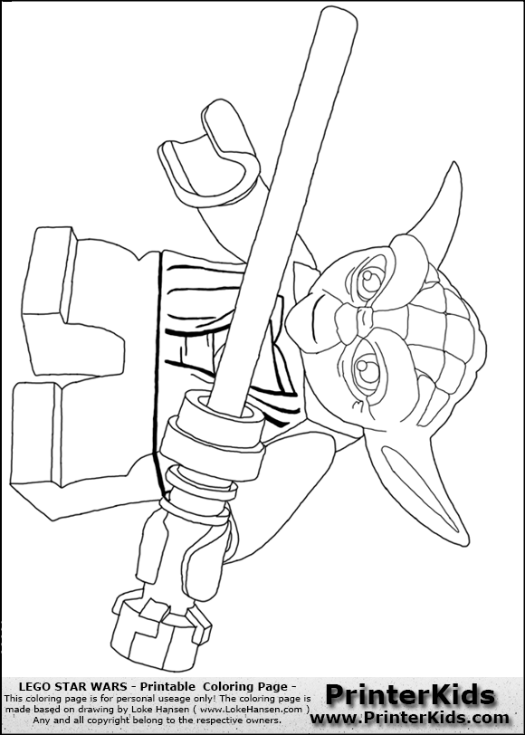 lego star wars lightsaber yoda coloring page preview