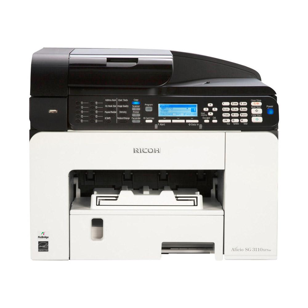 ricoh aficio sg3110sfnw a4 colour multifunction gel printer 980668