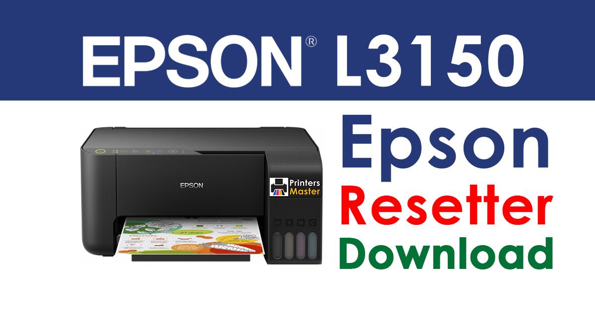 Epson L3150 Resetter Adjustment Program Free Download