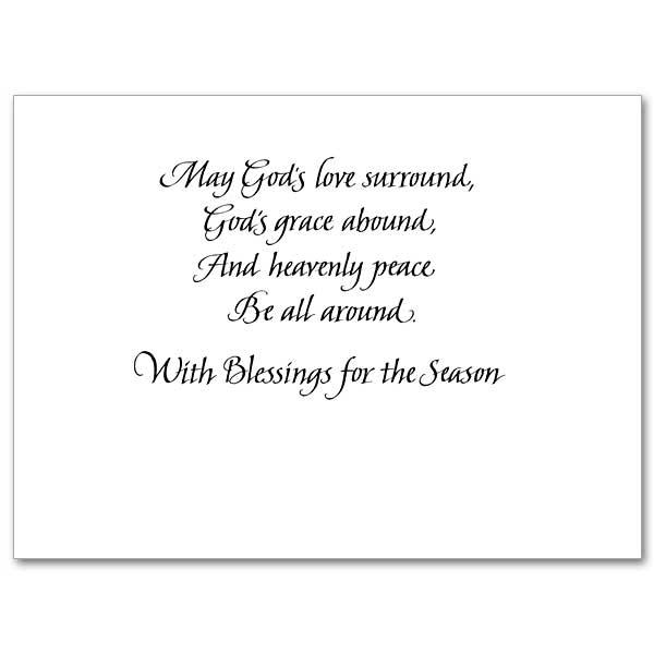 A Christmas Prayer Christmas Spirit Card