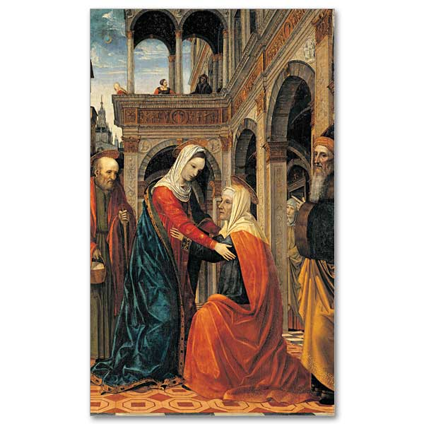 Visitation Of The Virgin Mary To St Elizabeth Prayer Card